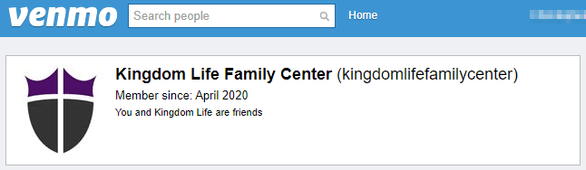 Venmo _ Kingdom Life Family Center